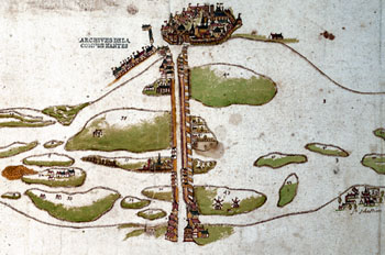 Carte d'Ambroise Brion 1665 copyright Archives municipales Nantes